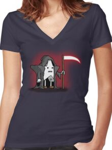Death-Star Women's Fitted V-Neck T-Shirt