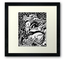 Cats Just Hanging Out Framed Print