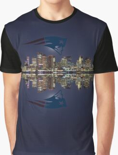Patriots and Boston Skyline Graphic T-Shirt