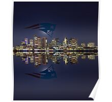 Patriots and Boston Skyline Poster