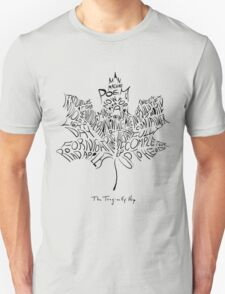 THE TRAGICALLY HIP - TYPOGRAPHY FONT BLACK Unisex T-Shirt