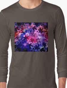 Abstract Art Retro Trendy Floral Pattern Long Sleeve T-Shirt