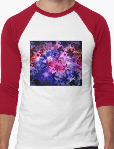 Abstract Art Retro Trendy Floral Pattern Men's Baseball ¾ T-Shirt