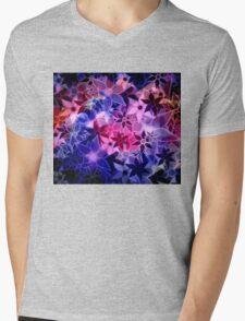 Abstract Art Retro Trendy Floral Pattern Mens V-Neck T-Shirt