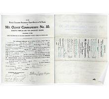 1913 Petition of Companion Wm. Eugene Briggs, Mt. Olivet Commandery No.30 Knights Templar Poster