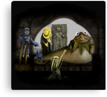 Kermit the Hutt Canvas Print