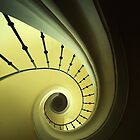 Green and yellow spirals by JBlaminsky