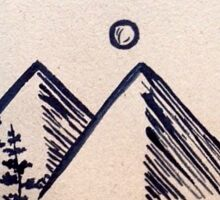 Mountain lines Sticker