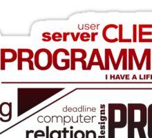 Programmer : Typography Programming - 2 Sticker