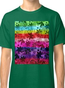 Abstract Art Retro Trendy Floral Pattern Classic T-Shirt
