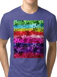 Abstract Art Retro Trendy Floral Pattern Tri-blend T-Shirt