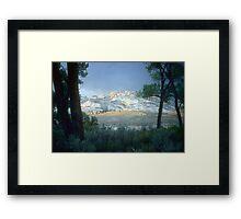 Split Mountain at sunset Framed Print