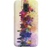 Montreal skyline in watercolor background Samsung Galaxy Case/Skin
