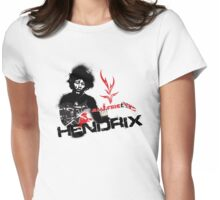 Jimmy Hendrix  Fire Womens Fitted T-Shirt