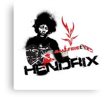 Jimmy Hendrix  Fire Canvas Print
