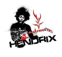 Jimmy Hendrix  Fire Photographic Print