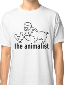 The Animalist - Black on white Classic T-Shirt