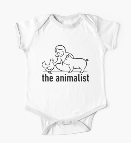 The Animalist - Black on white One Piece - Short Sleeve