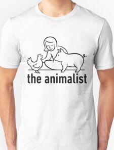 The Animalist - Black on white Unisex T-Shirt