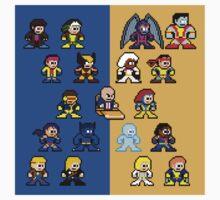 8-bit Blue and Gold X-Men Kids Clothes