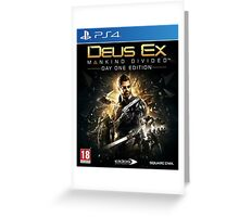 Deus Ex: Mankind Divided Day One Edition (PS4) Greeting Card
