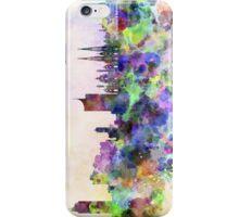 Vienna skyline in watercolor background iPhone Case/Skin