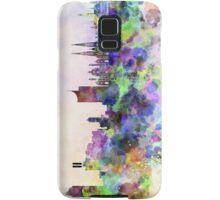 Vienna skyline in watercolor background Samsung Galaxy Case/Skin