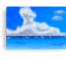 Clouds on the Sea Canvas Print