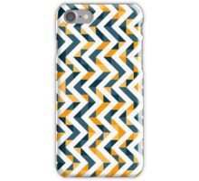 Chevron Oranges and Ink - Geometric Pattern iPhone Case/Skin