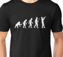Funny Trumpet Evolution Of Man Silhouette Unisex T-Shirt