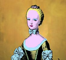 """Mozart and Marie """"Warhol's Gold Marilyn Marie"""" by MozartandMarie"""