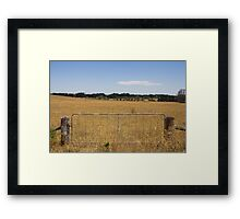Rural gateway Framed Print