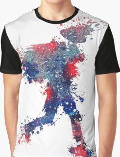 Red, White, and Blue Splash Graphic T-Shirt