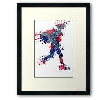 Red, White, and Blue Splash Framed Print