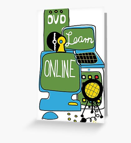 Learn online Greeting Card