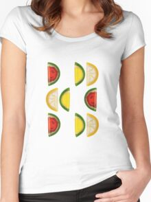 Fruit and More Fruit  Women's Fitted Scoop T-Shirt