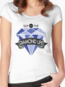 Seventeen/17 'Shining Diamond' Lyrics KPOP Women's Fitted Scoop T-Shirt