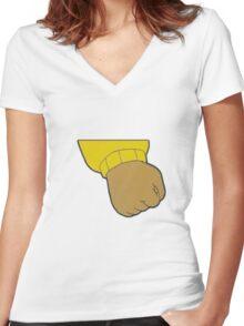 Arthur Fist Meme  Women's Fitted V-Neck T-Shirt