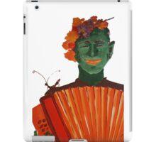 Fantomas with an accordion iPad Case/Skin