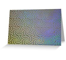 Colored Swirl Papttern Greeting Card
