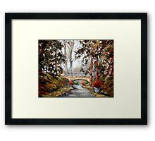 Longwood Gardens Bridge Framed Print