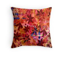 Abstract Art Retro Trendy Floral Pattern Throw Pillow