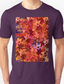 Abstract Art Retro Trendy Floral Pattern Unisex T-Shirt