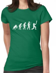 Cricket Evolution Of Man  Womens Fitted T-Shirt