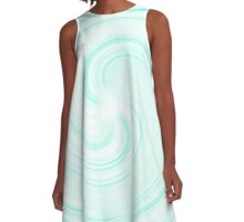 Blueberry Sundae Swirl A-Line Dress