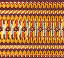 Colorful ethnic pattern by Gaspar Avila