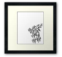 Joker Inspired Framed Print