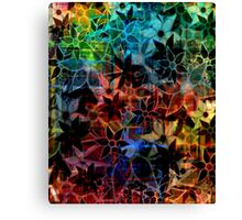 Abstract Art Retro Trendy Floral Pattern Canvas Print