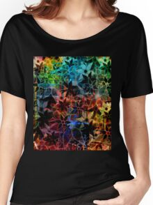 Abstract Art Retro Trendy Floral Pattern Women's Relaxed Fit T-Shirt