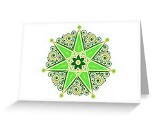 Elven Star, Symbol Perfection & Protection, Heptagram, Magic Greeting Card